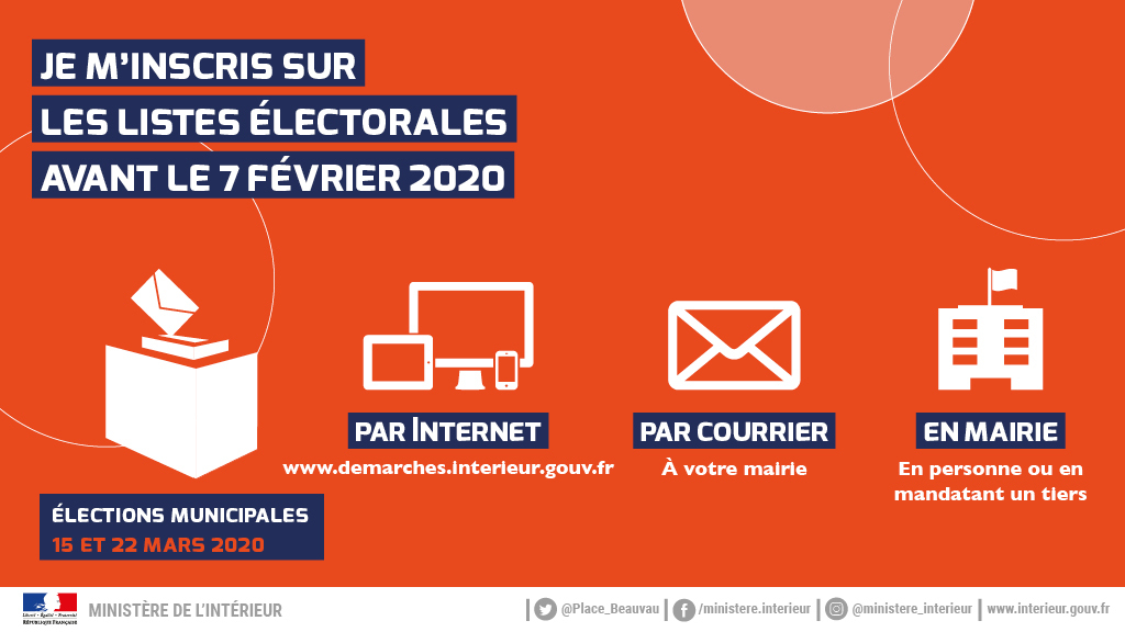 Inscription listes electorales 2020 Je minscris
